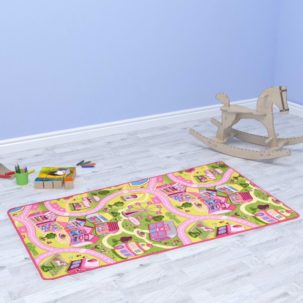 Play Mat Loop Pile 80x120 cm Sweet Town Pattern