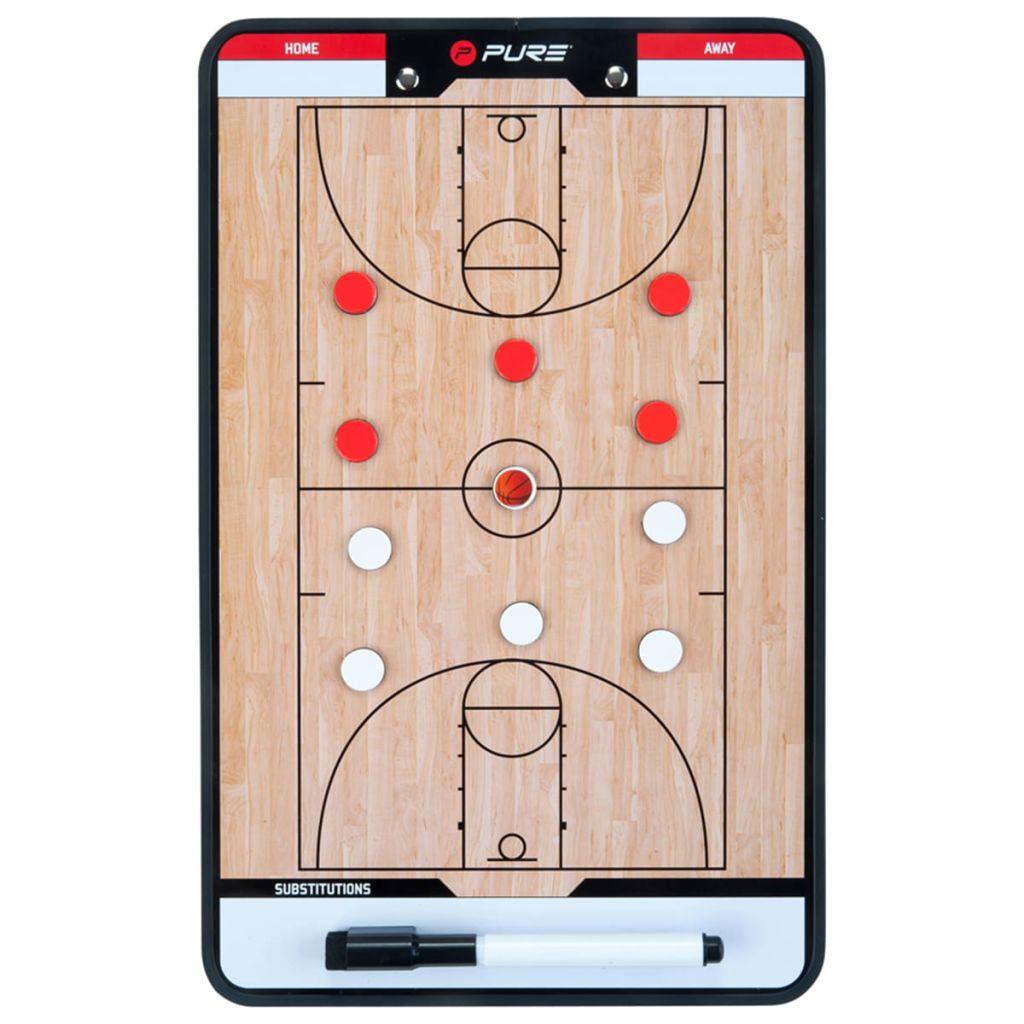 Двусторонняя баскетбольная доска Pure2Improve, тренерская доска, 35x22 см P2I100620