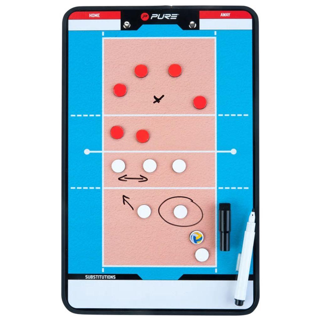 Двусторонняя волейбольная доска Pure2Improve, тренерская доска, 35x22 см P2I100690