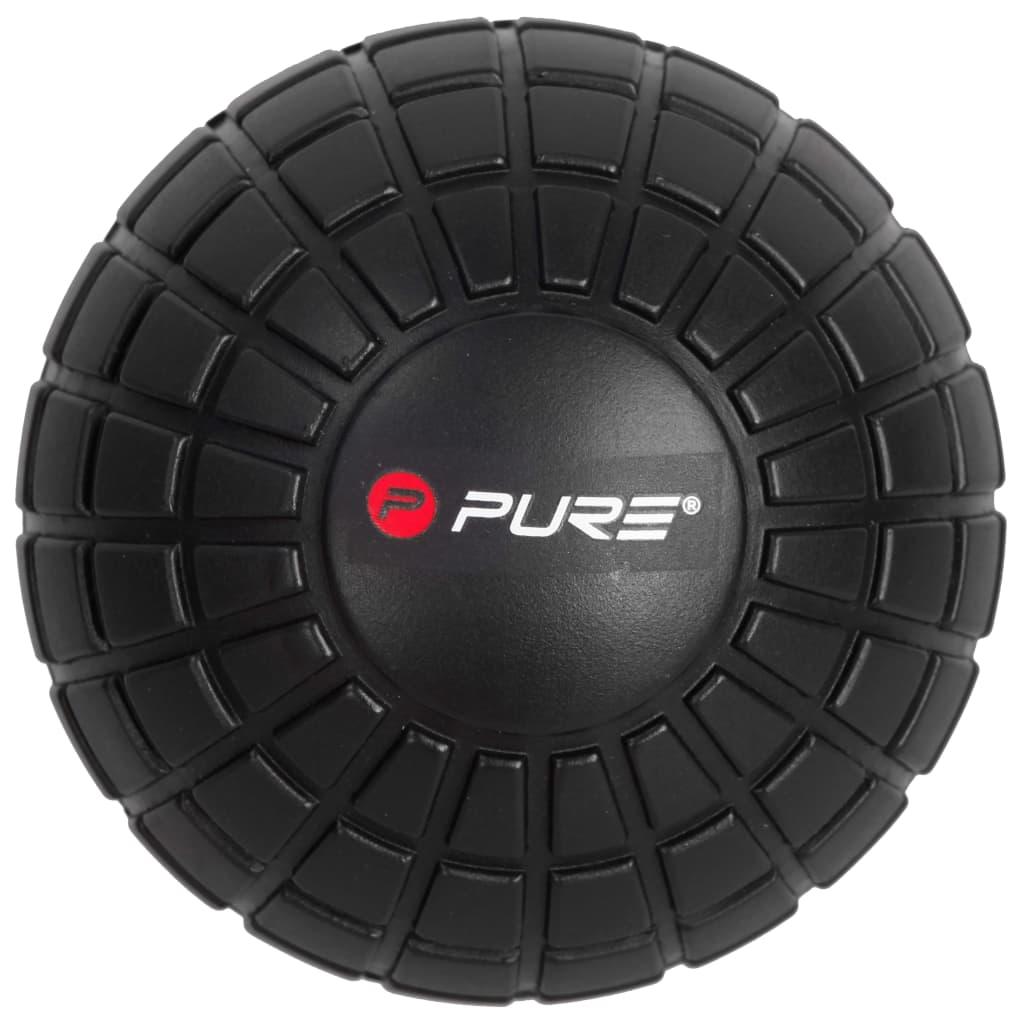 Массажный мяч Pure2Improve 12.8 см, черный