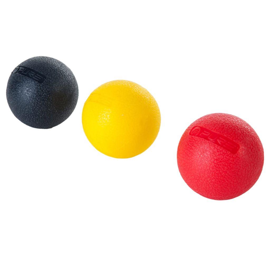 Pure2Improve Set di palline da massaggio a tre pezzi 5 cm P2I200190