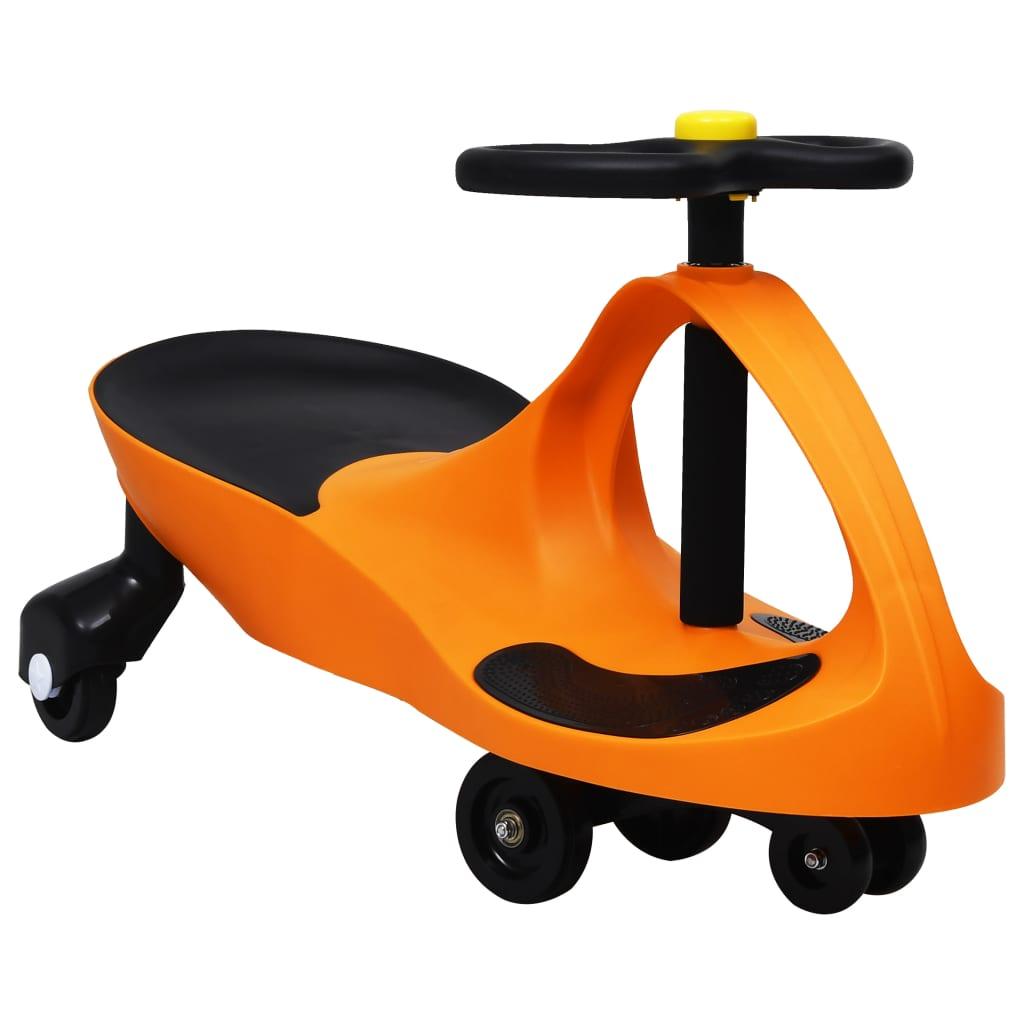 Ride on Toy Wiggle Car Swing Car avec corne orange