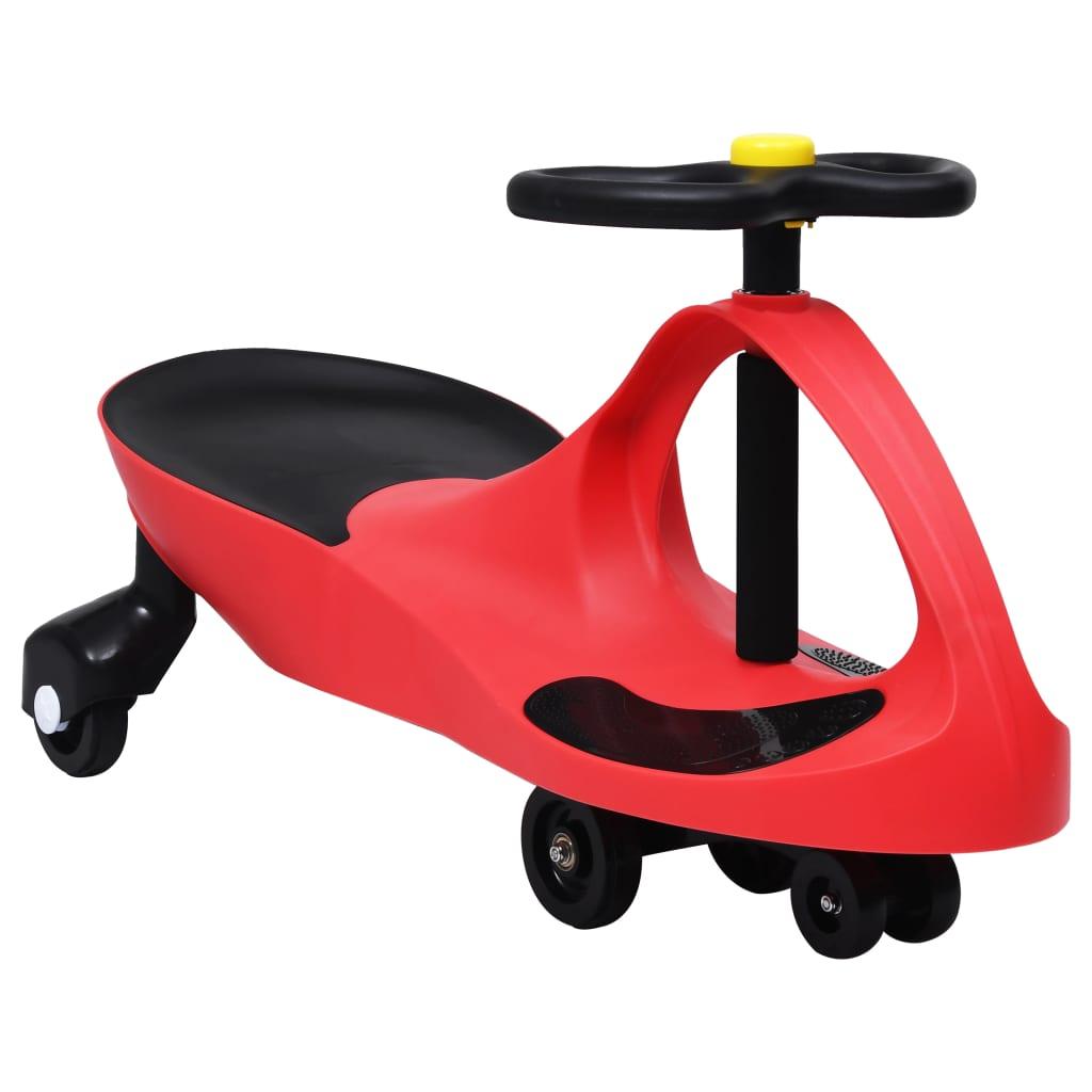 Ride on Toy Wiggle Car Swing Car avec corne rouge