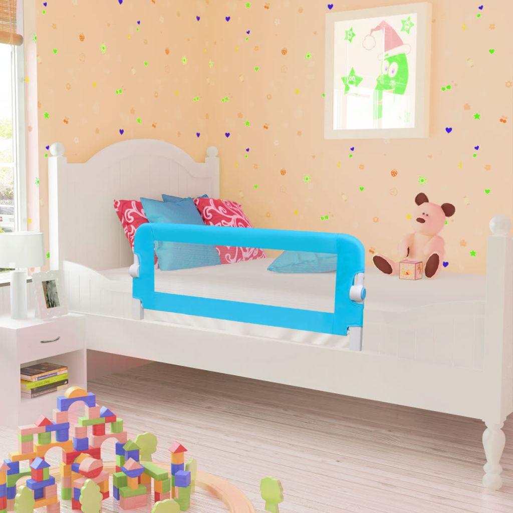 Barrière de lit de sécurité pour tout-petit 102 x 42 cm Bleu
