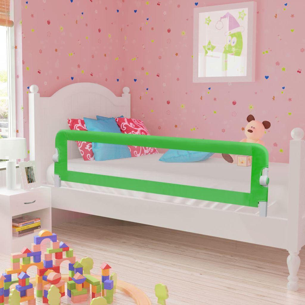 Ράγα κρεβατιών ασφαλείας για μικρά παιδιά 150 x 42 εκ. Πράσινο