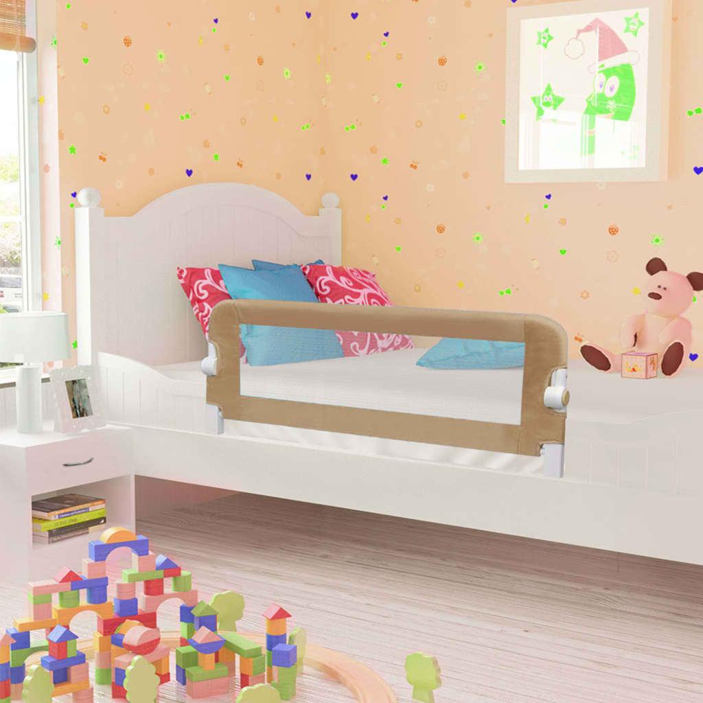 Ράγα κρεβατιών ασφαλείας για μικρά παιδιά Taupe 120x42 cm Πολυεστέρας