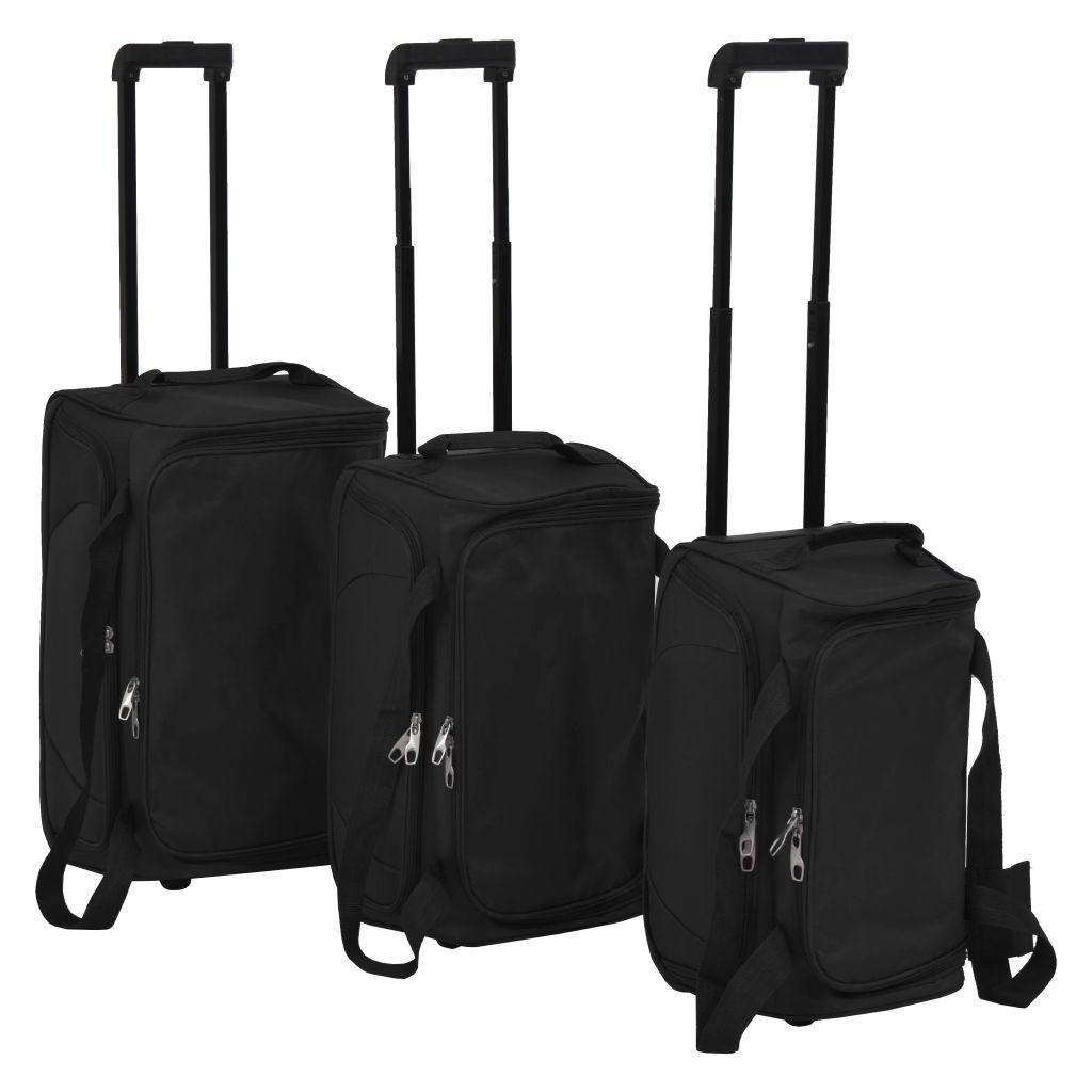 Комплект чемоданов из 3 предметов, черный