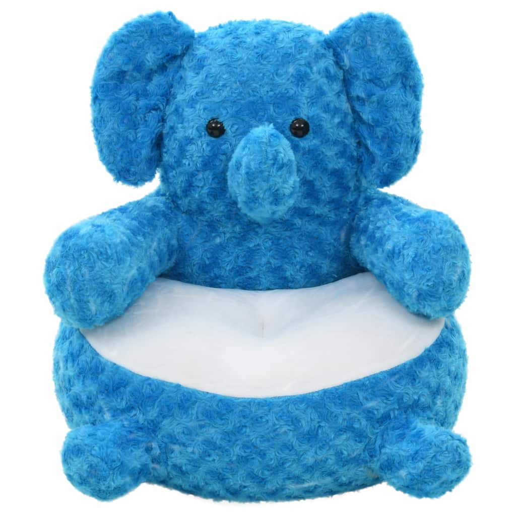 Peluche éléphant en peluche bleu