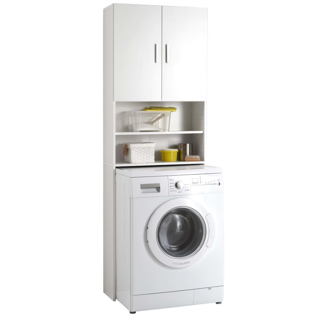 FMD mosógépszekrény fehér tárolóval