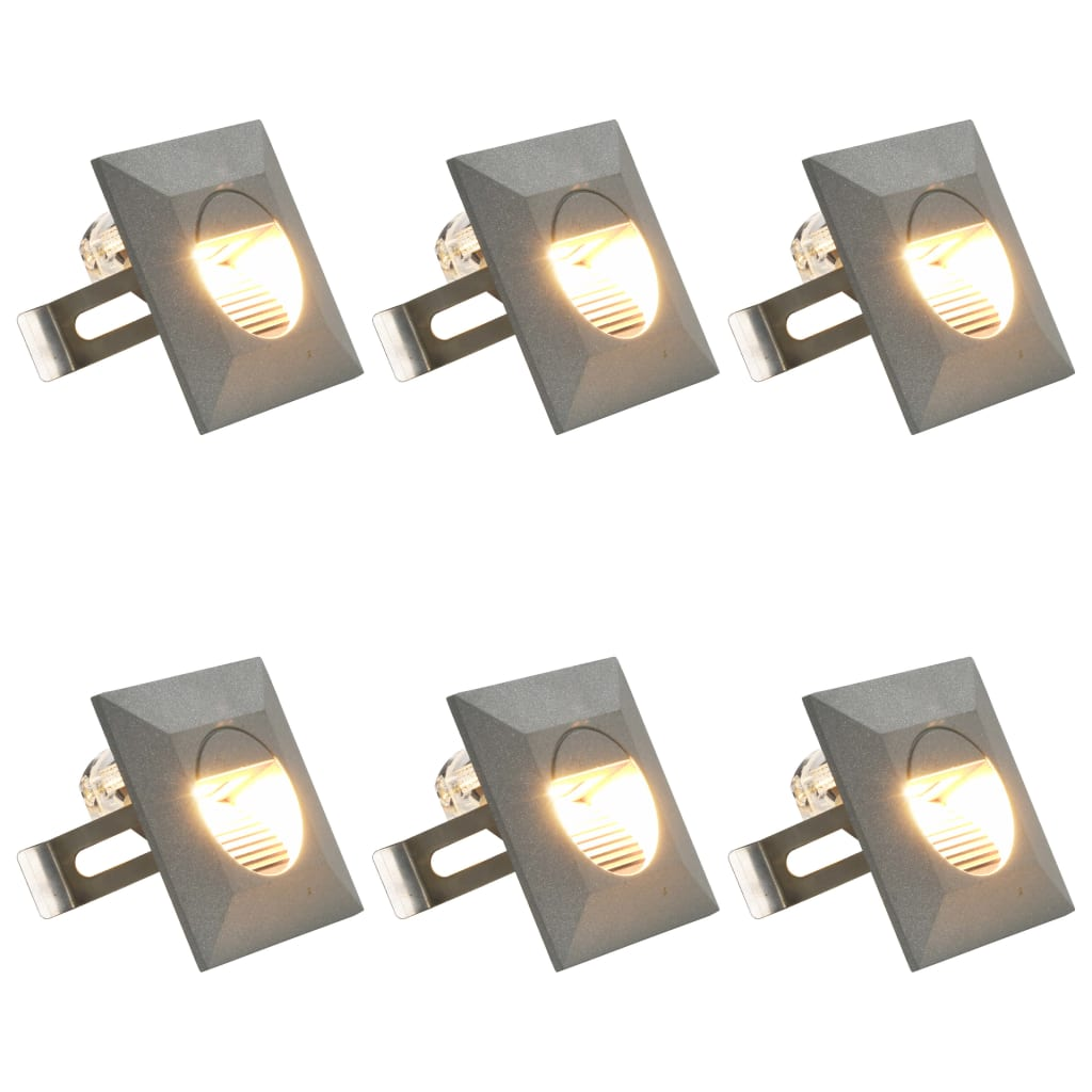Outdoor LED Wall Lights 6 pcs 5 W Silver Square