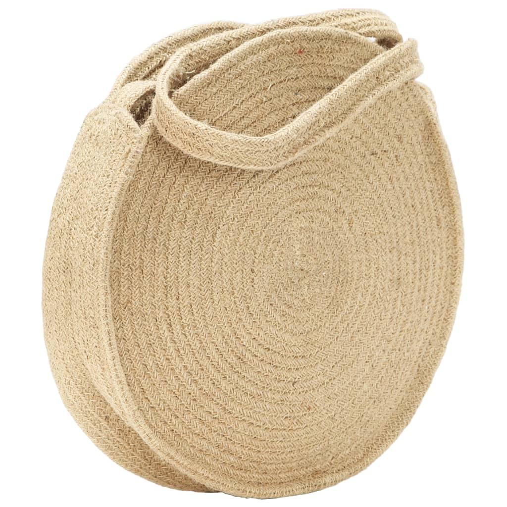 Στρογγυλή τσάντα ώμου Φυσική χειροποίητη γιούτα
