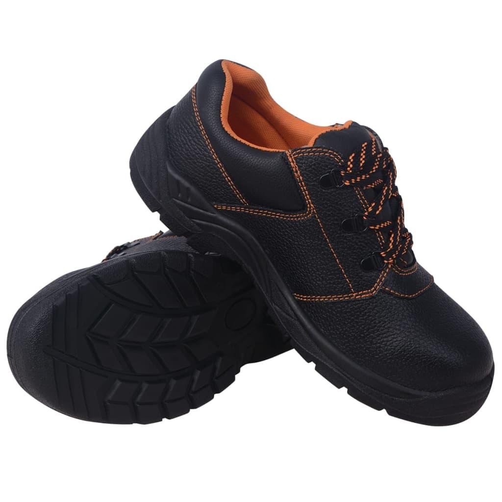 Παπούτσια ασφαλείας Μαύρο μέγεθος 11.5 Δέρμα