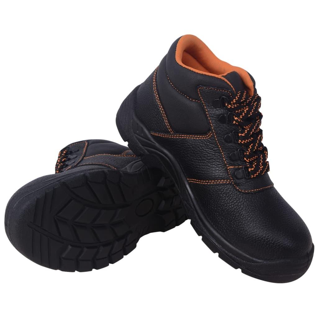 Παπούτσια ασφαλείας Μαύρο μέγεθος 12.5 Δέρμα