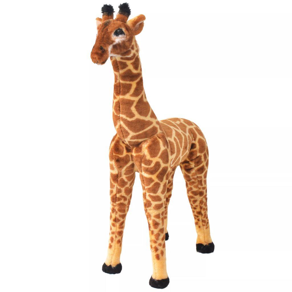 Peluche Debout Girafe Marron et Jaune XXL