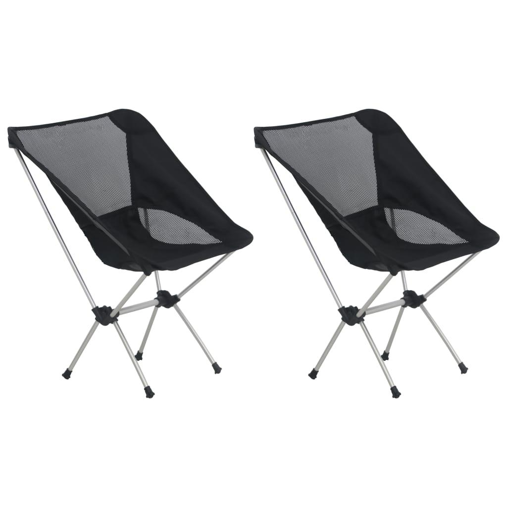 2x складных стула для кемпинга с сумкой для переноски 54x50x65 см, алюминий