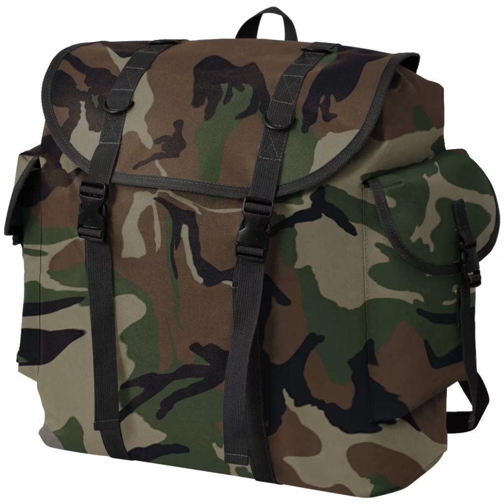 Army-Style Rucksack 40 L Tarnung