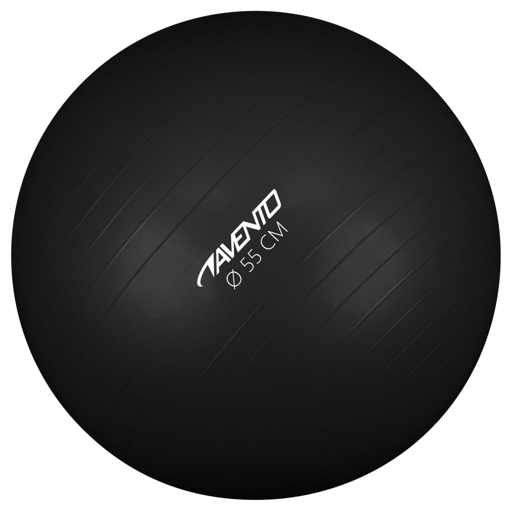 Avento Fitness/Gym Ball Dia. 55 cm Black