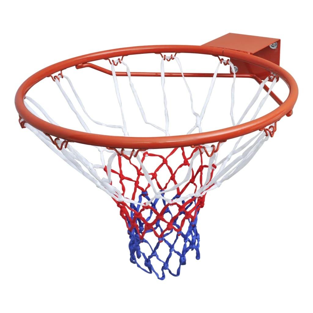 Комплект обручей для баскетбольных ворот, обод с сеткой, оранжевый 45 см