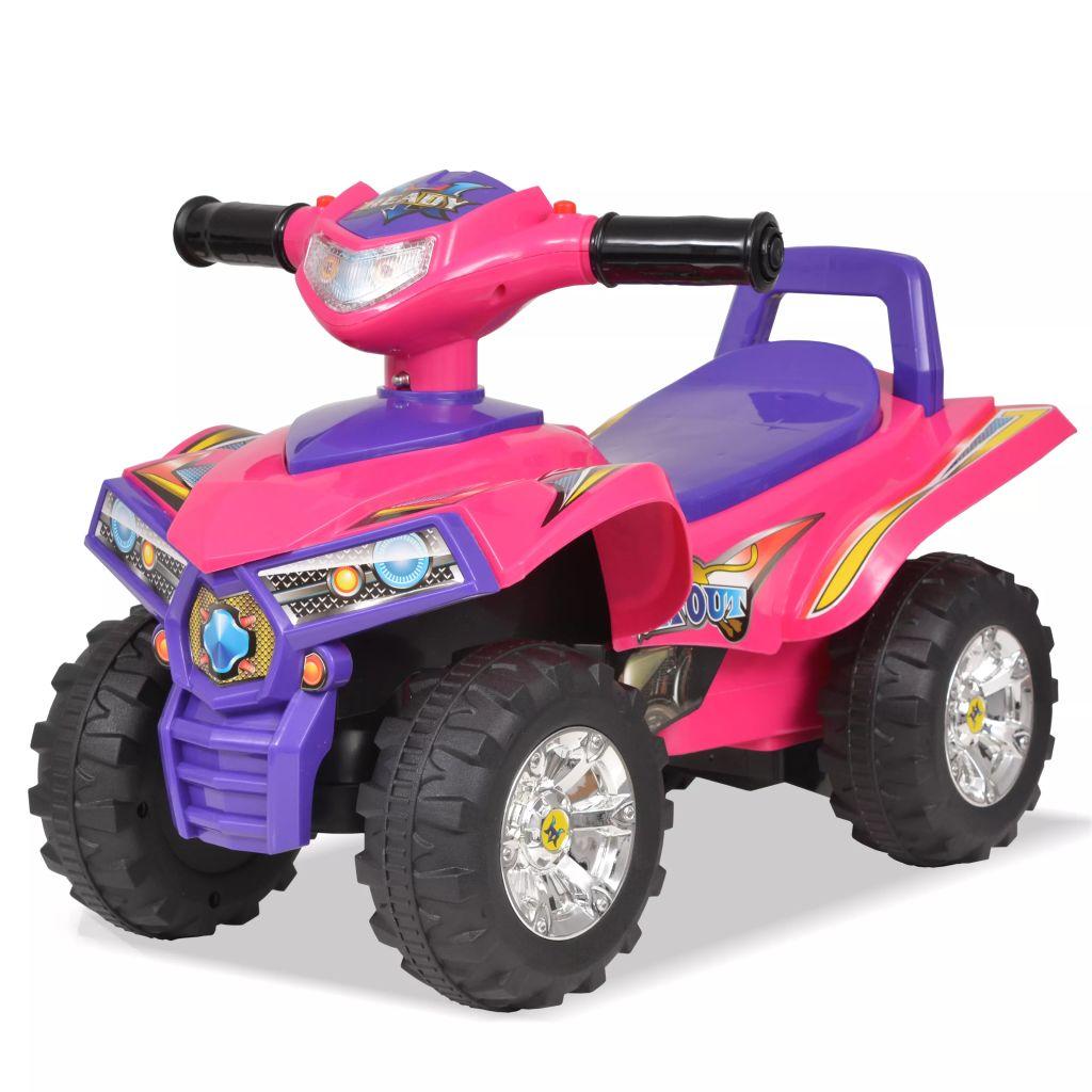 VTT à enfourcher pour enfants avec son et rose clair et violet