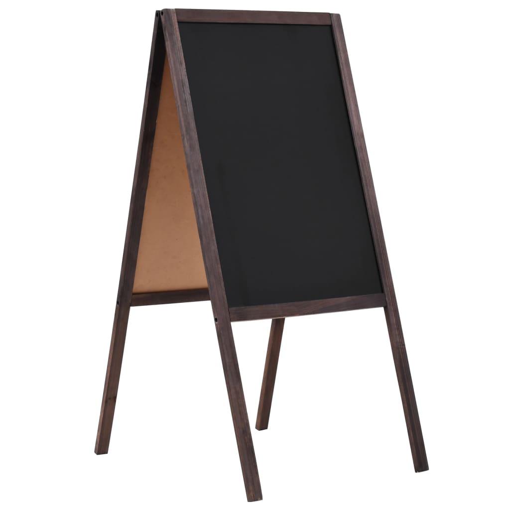 Διπλής όψης Μαυροπίνακας Κέδρος Χωρίς Στάση 40x60 εκ