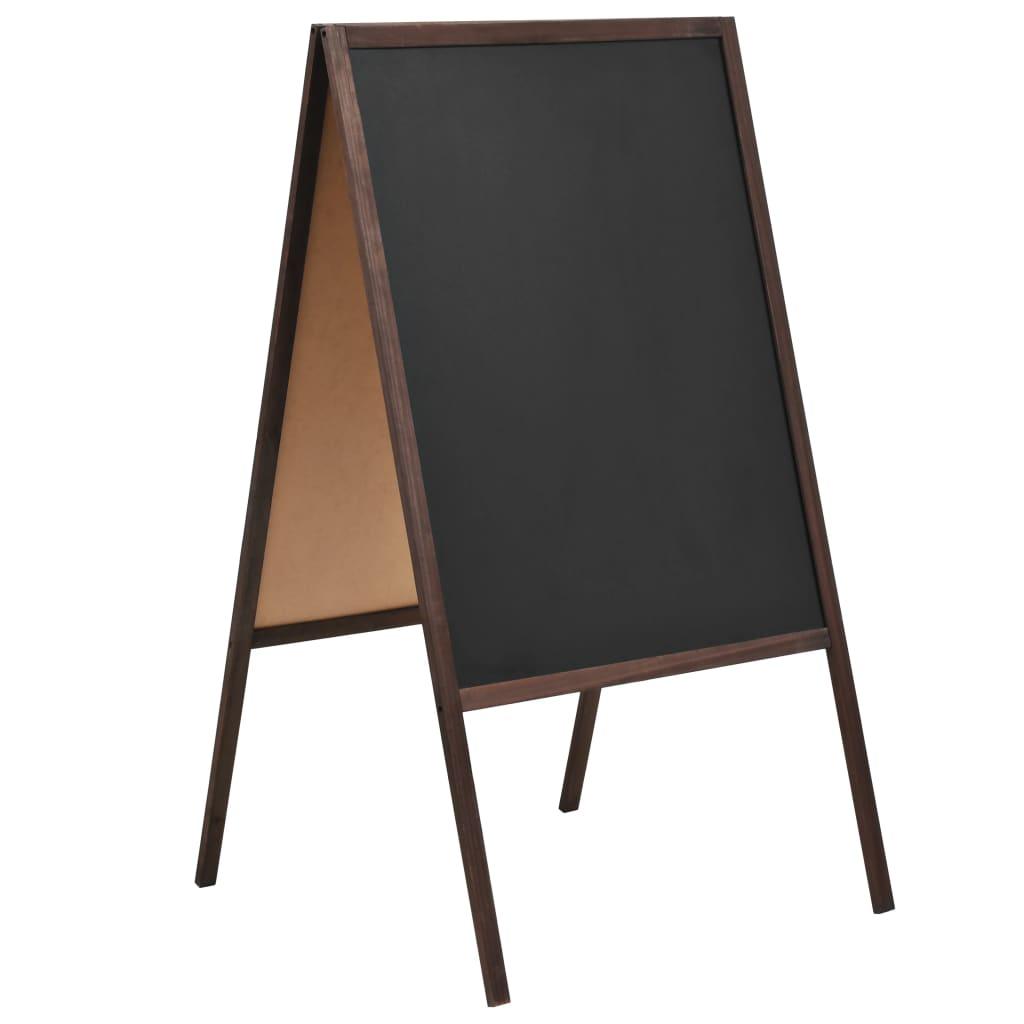 Διπλής όψης Μαυροπίνακας Κέδρος Χωρίς Στάση 60x80 εκ