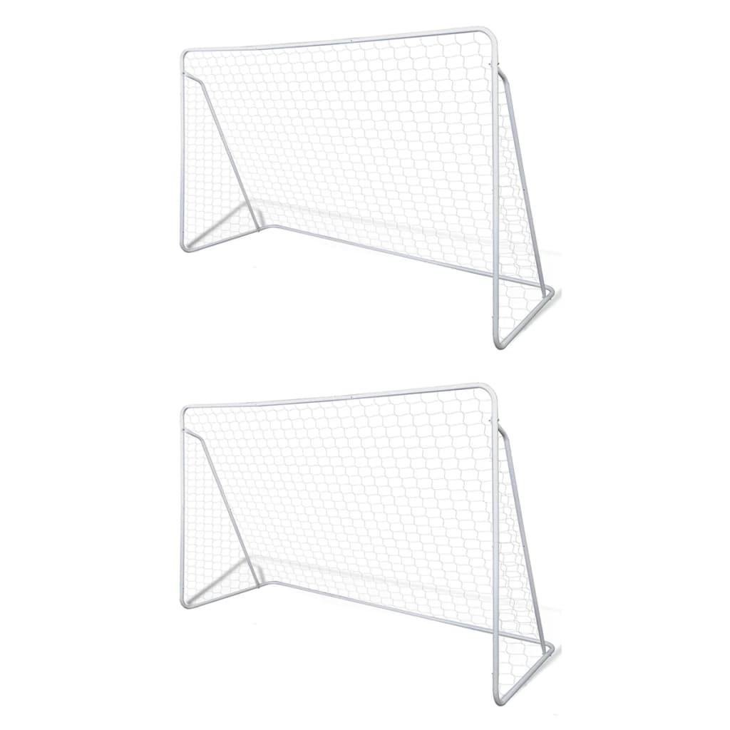 Сетки для футбольных ворот Стальные 2 шт. 240x90x150 см