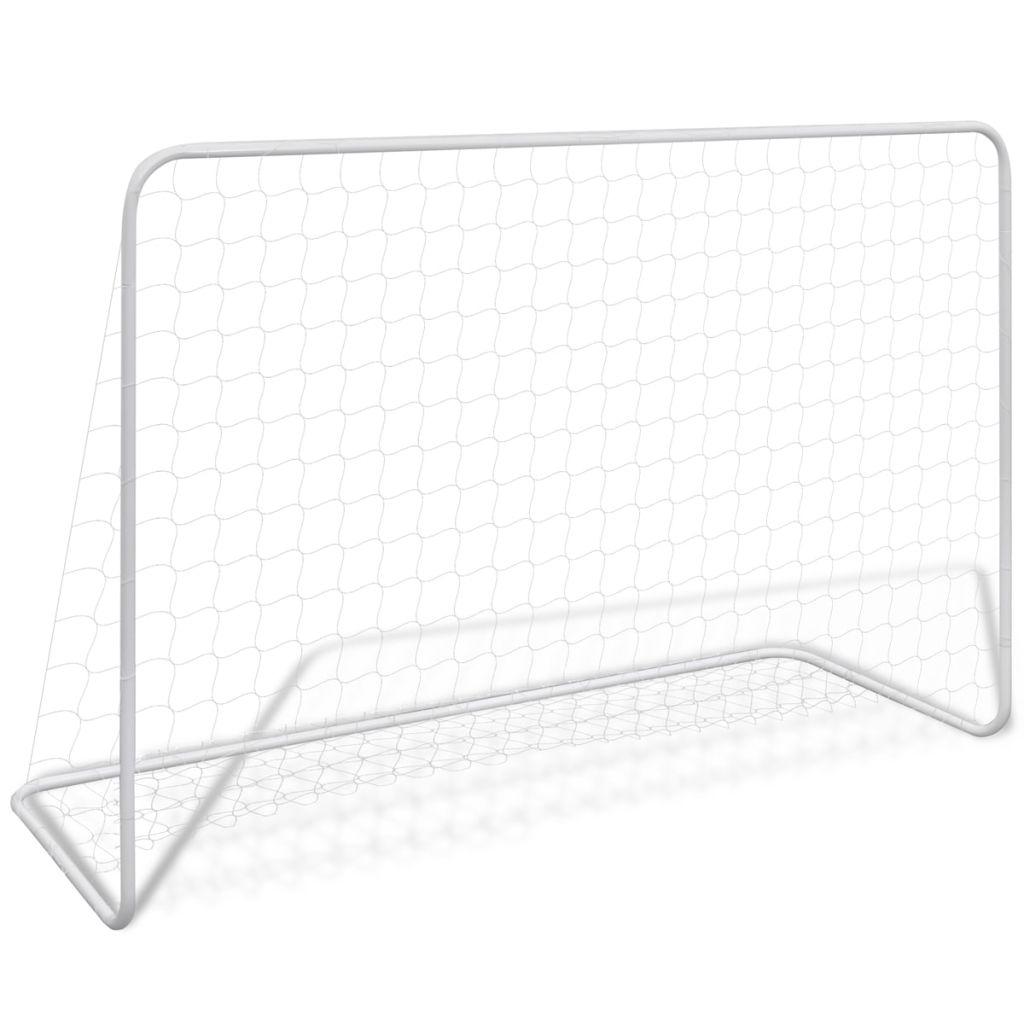 Футбольные ворота с сеткой 182x61x122 cm Steel White