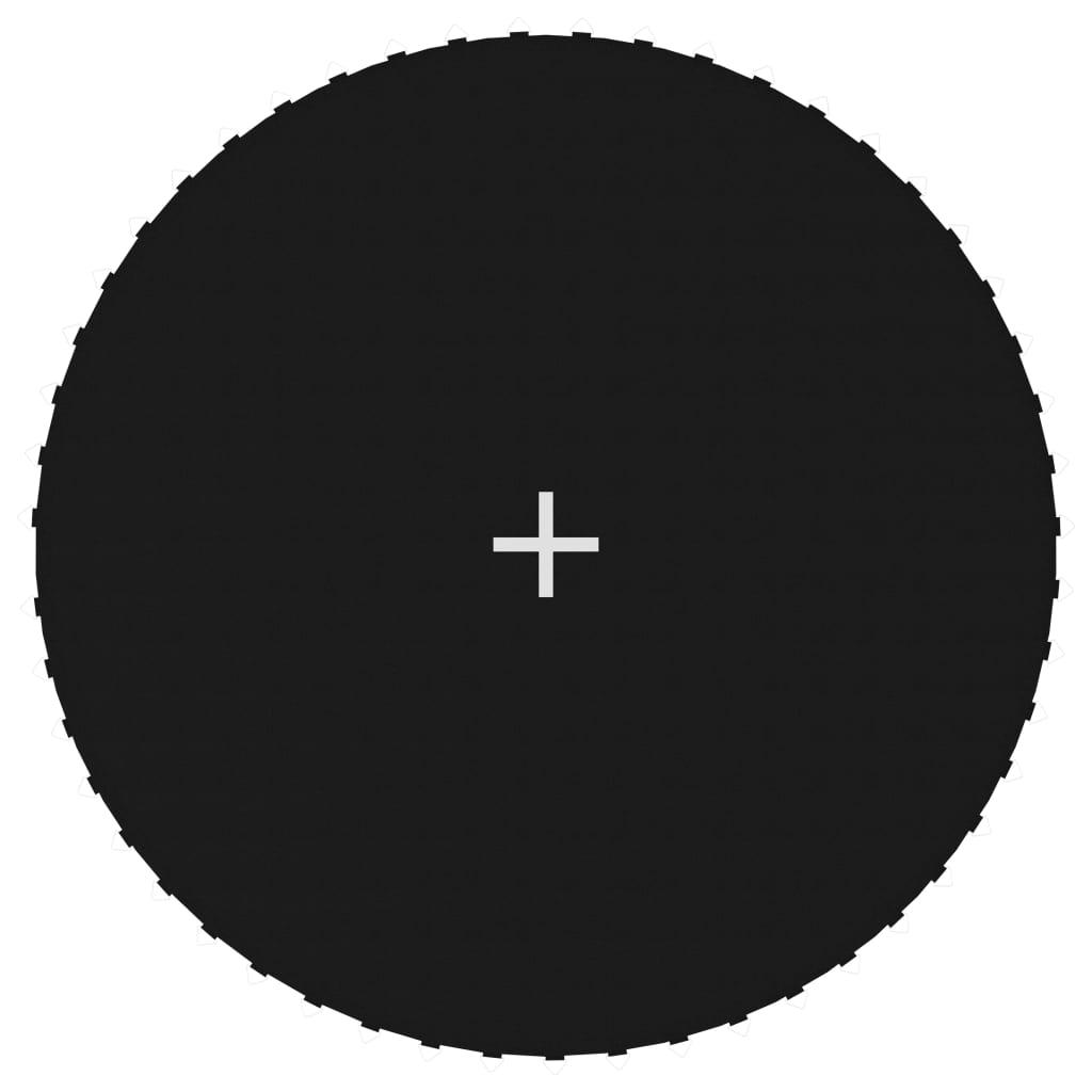 Tapis de saut en tissu noir pour trampoline rond de 10 pieds / 3,05 m