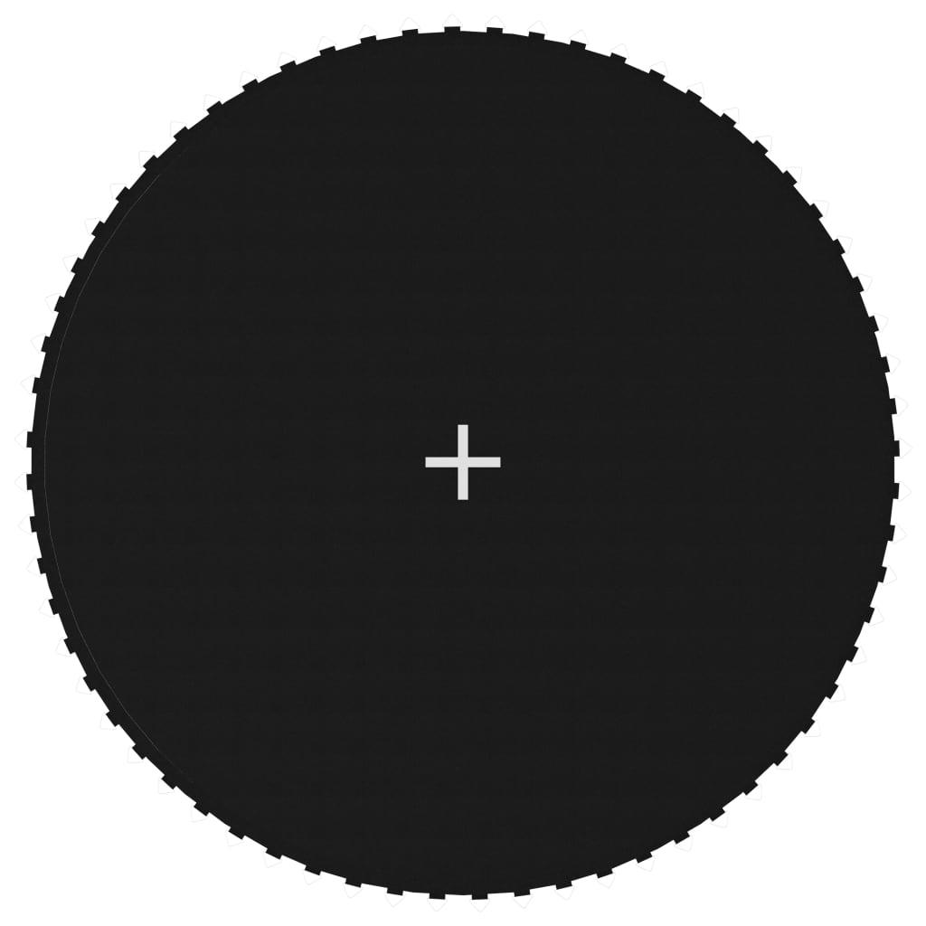 Tapis de saut en tissu noir pour trampoline rond de 12 pieds / 3,66 m
