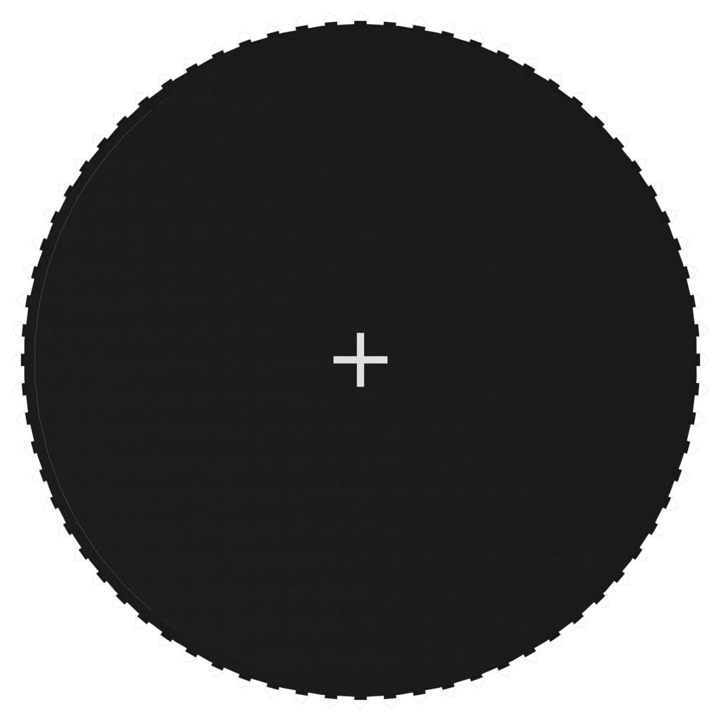 Tapis de saut en tissu noir pour trampoline rond de 13 pieds / 3,96 m