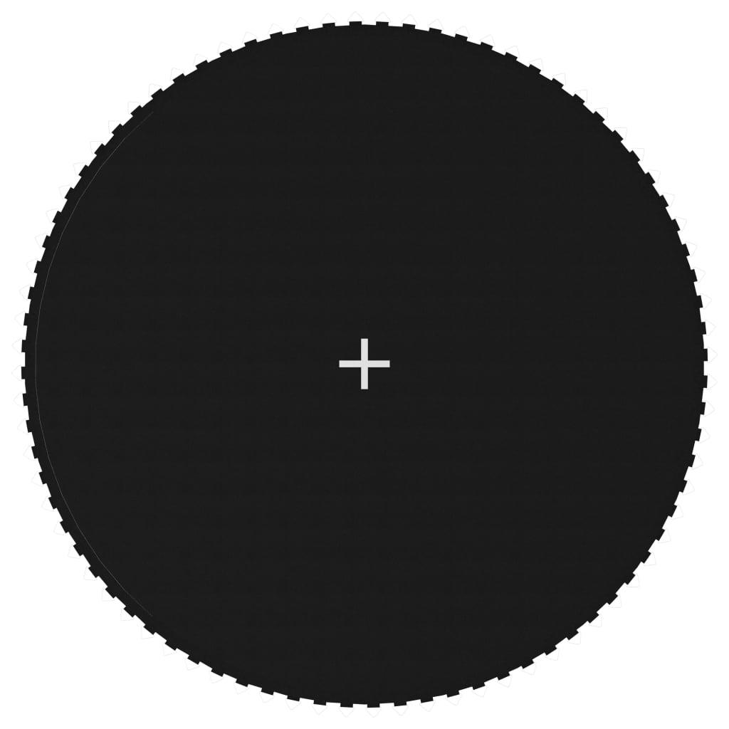 Ugrószőnyeg szövet, fekete 14 láb / 4,27 m-es kerek trambulinhoz