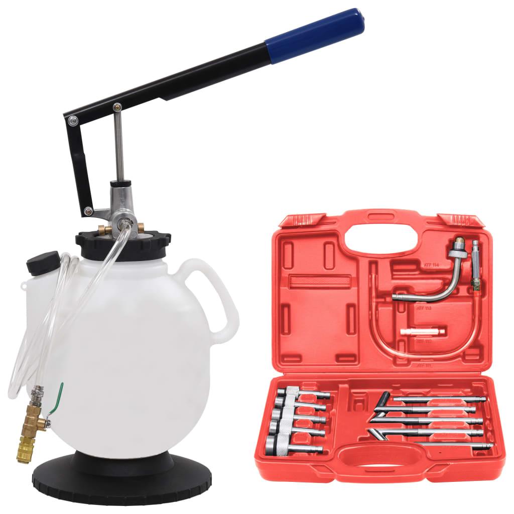 Remplisseur de liquide pour transmission automatique manuelle avec jeu d'outils 7.5 L