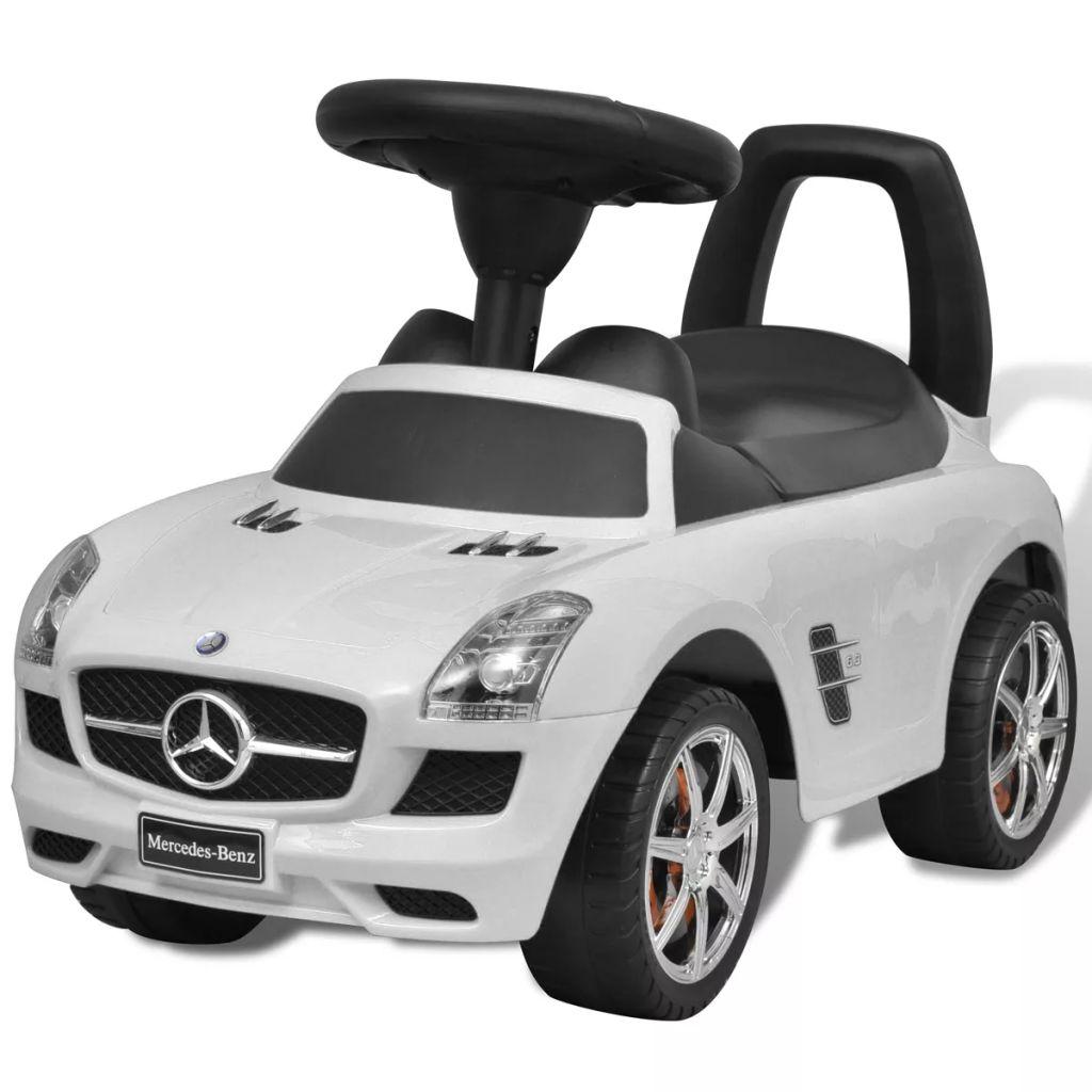 Mercedes Benz lábbal hajtott gyerek autó fehér