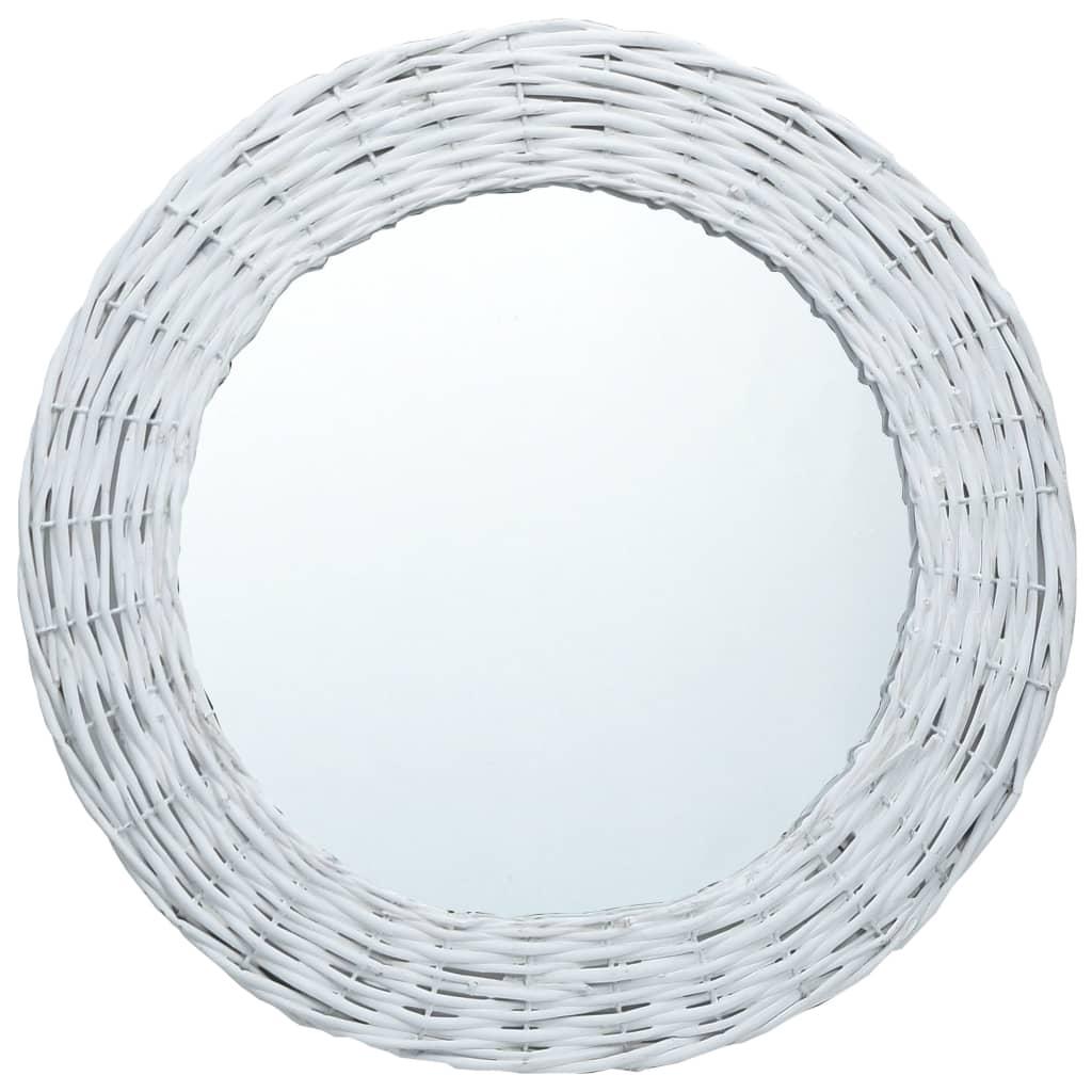 ミラーホワイト70cm籐