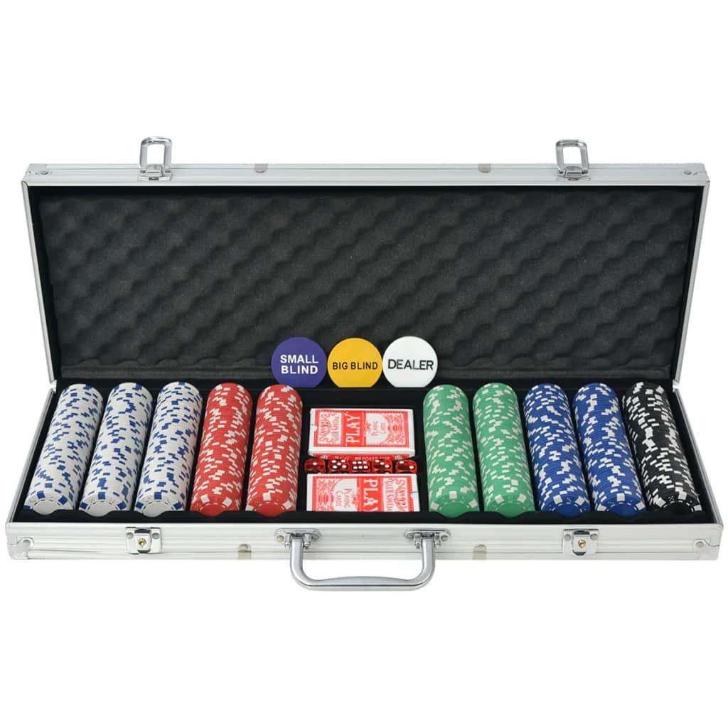 Póker szett 500 zseton alumíniummal