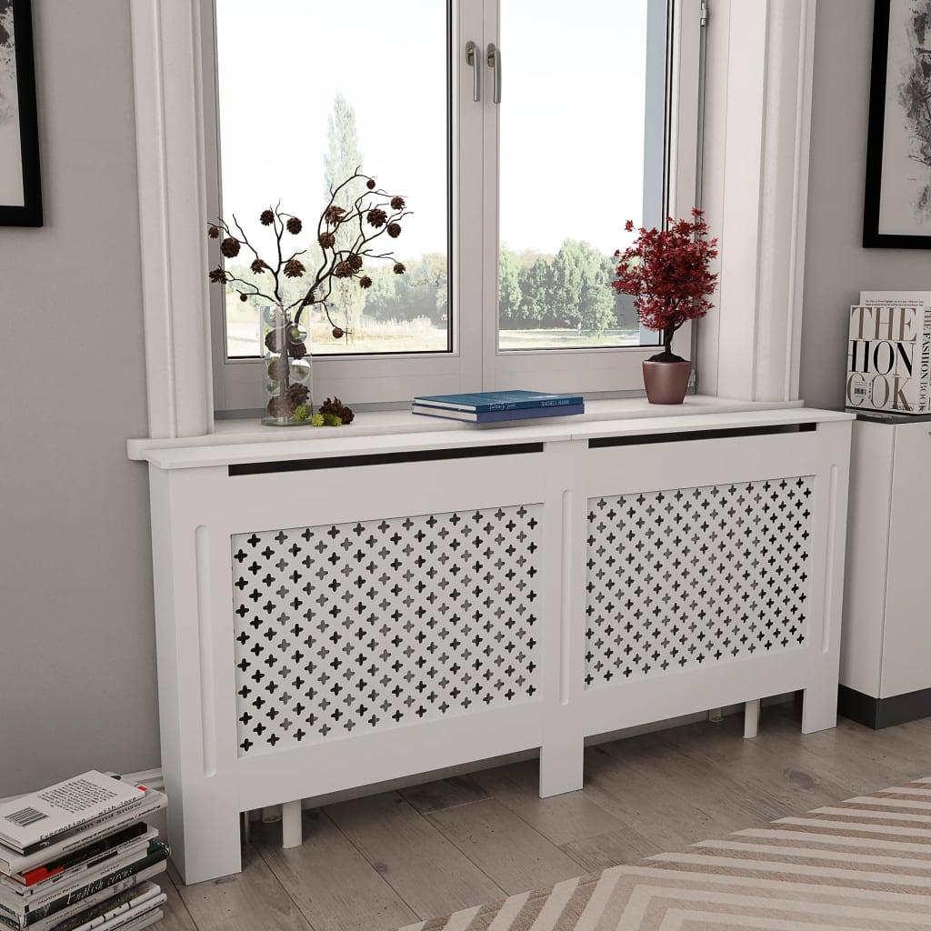 Κάλυμμα ψυγείου Λευκό 172x19x81.5 cm MDF