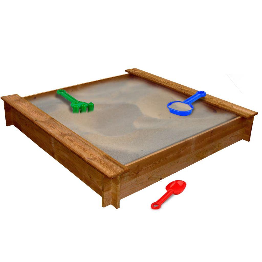 Carré en bois de bac à sable