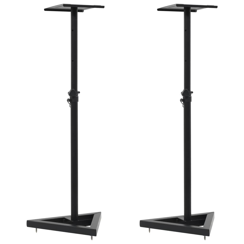 Подставки для колонок для студийных мониторов, 2 шт., Черная сталь