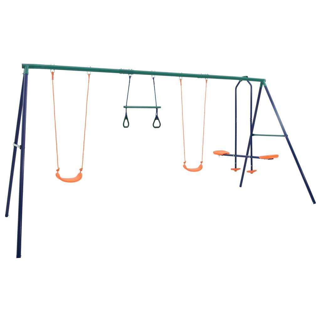 Swing szett torna gyűrűkkel és 4 üléses acéllal