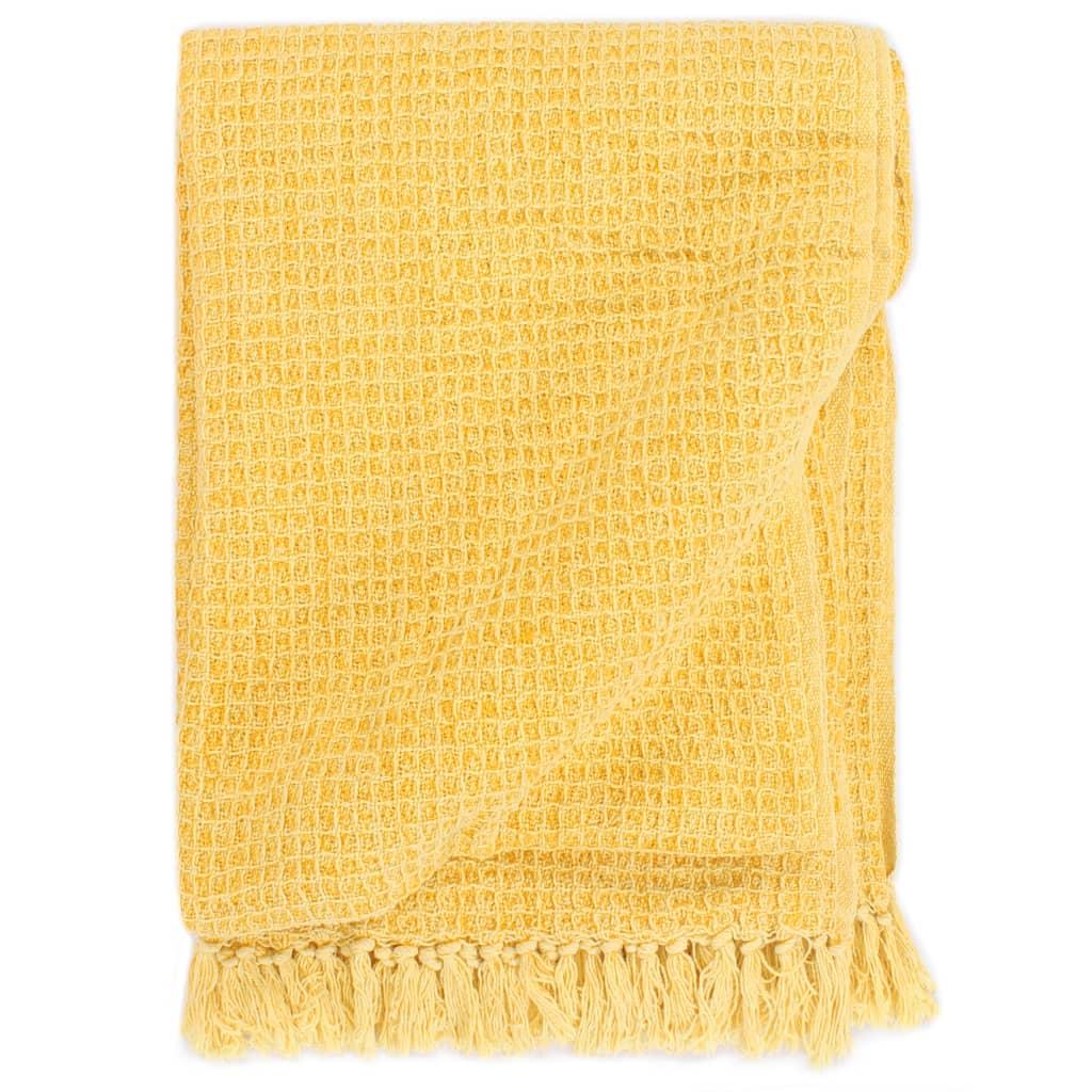 Jogue Algodão 160x210 cm Amarelo Mostarda