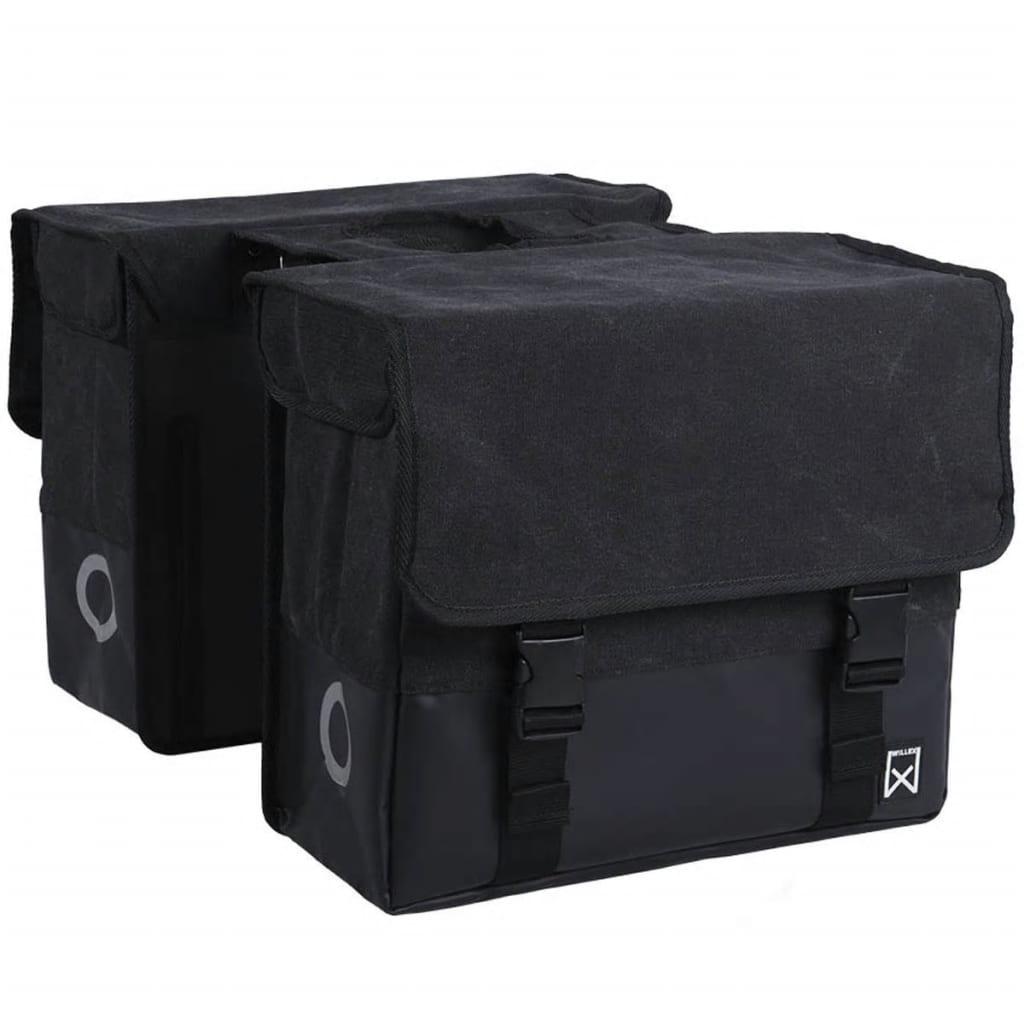 ウィレックス新聞バッグキャンバス40Lブラックとマットブラック