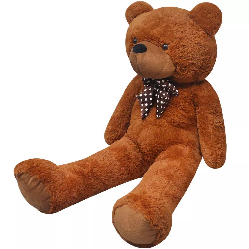 XXL Soft Plush ตุ๊กตาหมีของเล่นบราวน์ 135 ซม