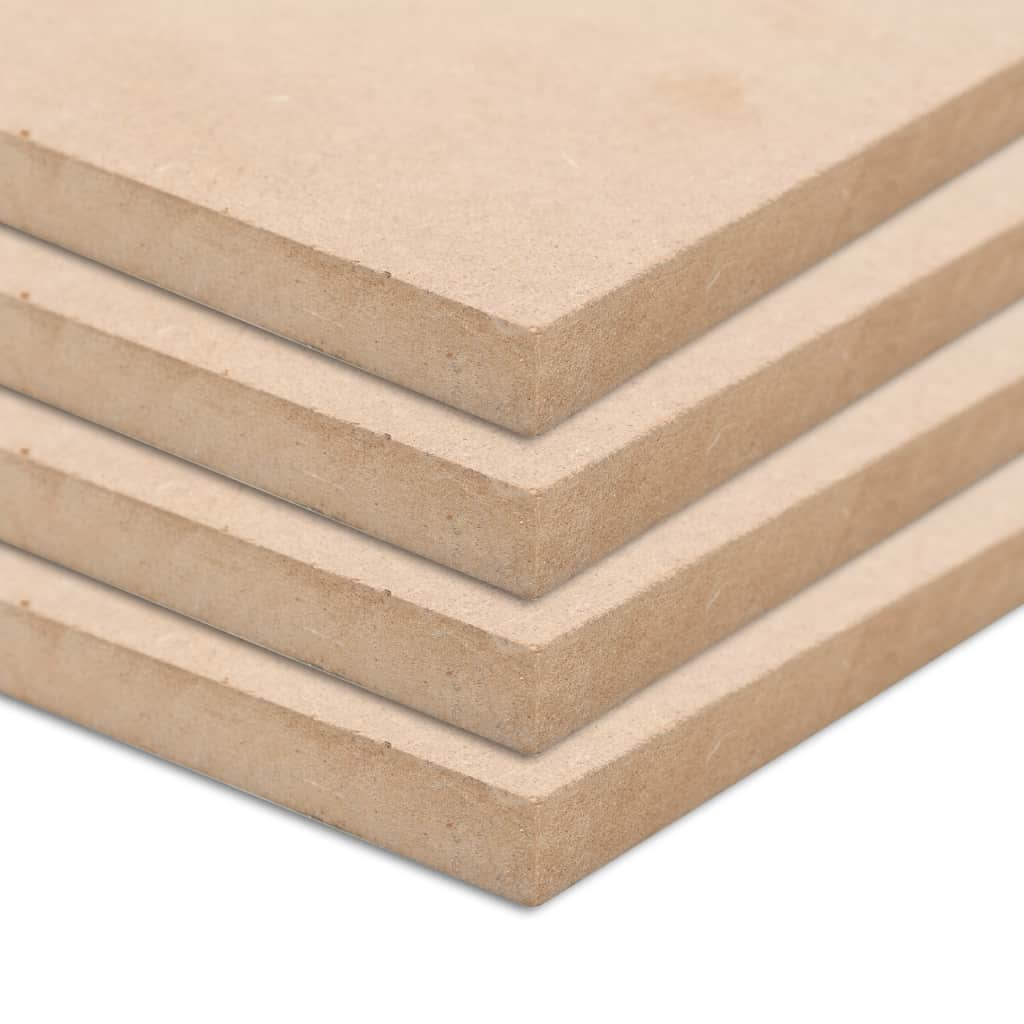 4 pièces feuilles de MDF rectangulaires 120x60 cm 12 mm