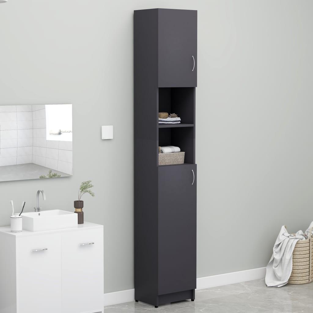 Bathroom Cabinet Grey 32x25.5x190 cm Chipboard  - buy with discount