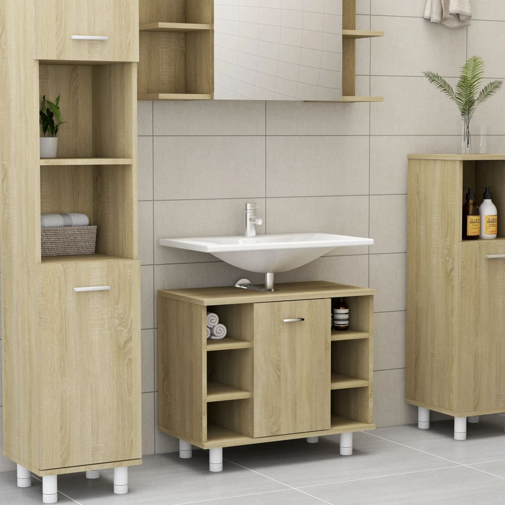 Fürdőszoba szekrény Sonoma tölgy 60x32x53.5 cm forgácslap