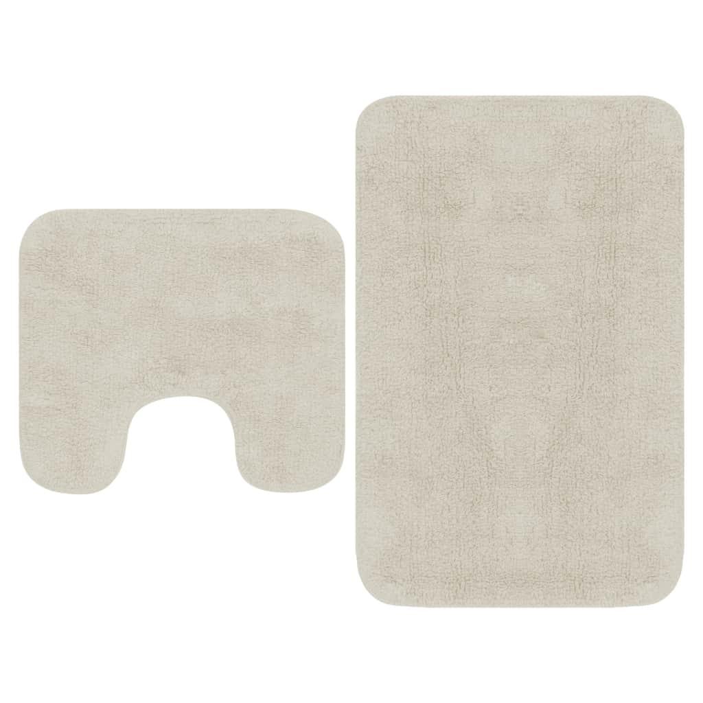 Набор ковриков для ванной, 2 шт., Ткань белый