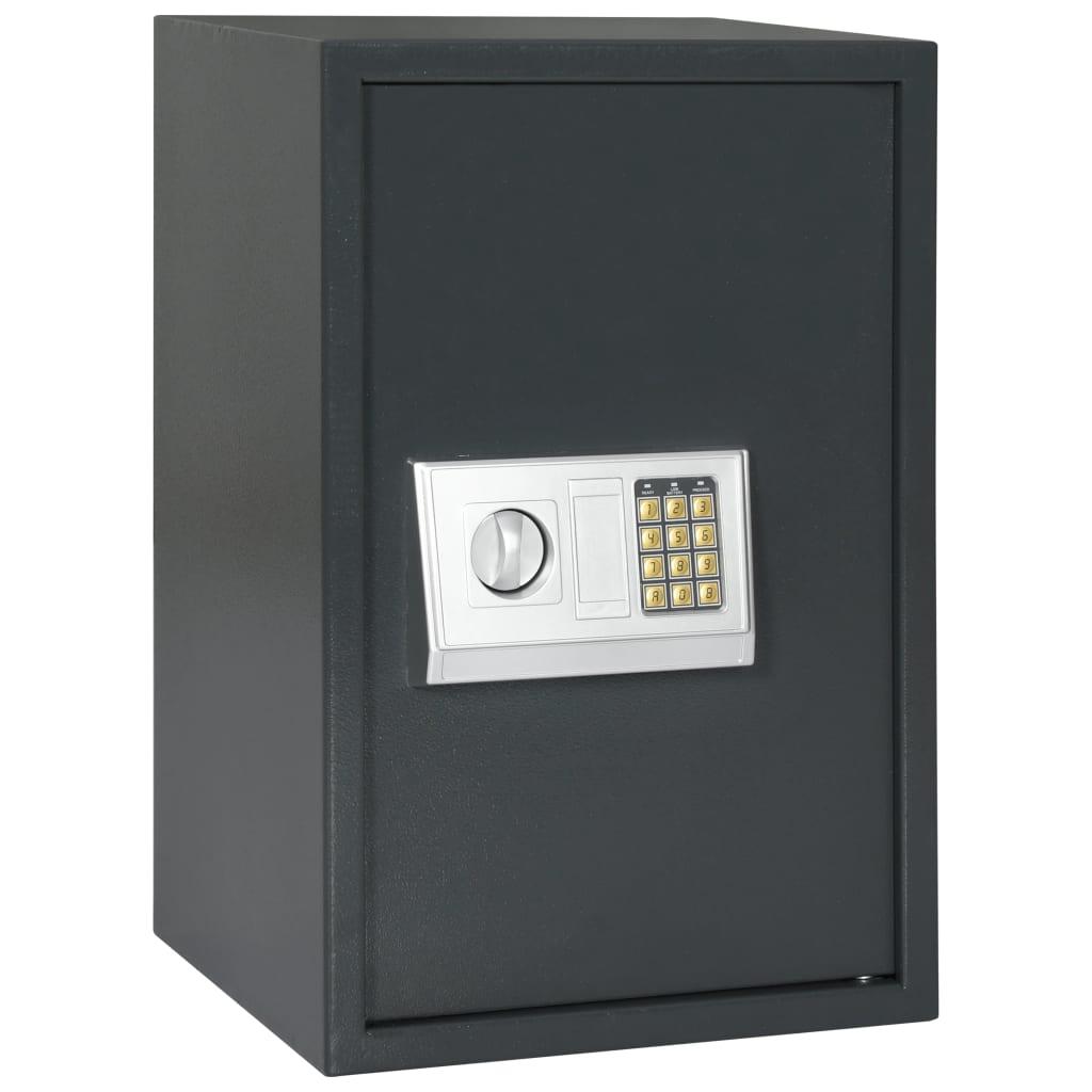 Coffre-fort numérique gris foncé 40x35x60 cm