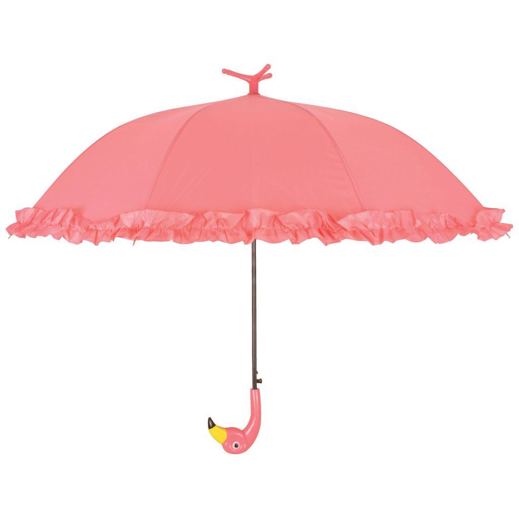 Esschert Design Ομπρέλα με Ruffles Flamingo 98 cm Ροζ TP203