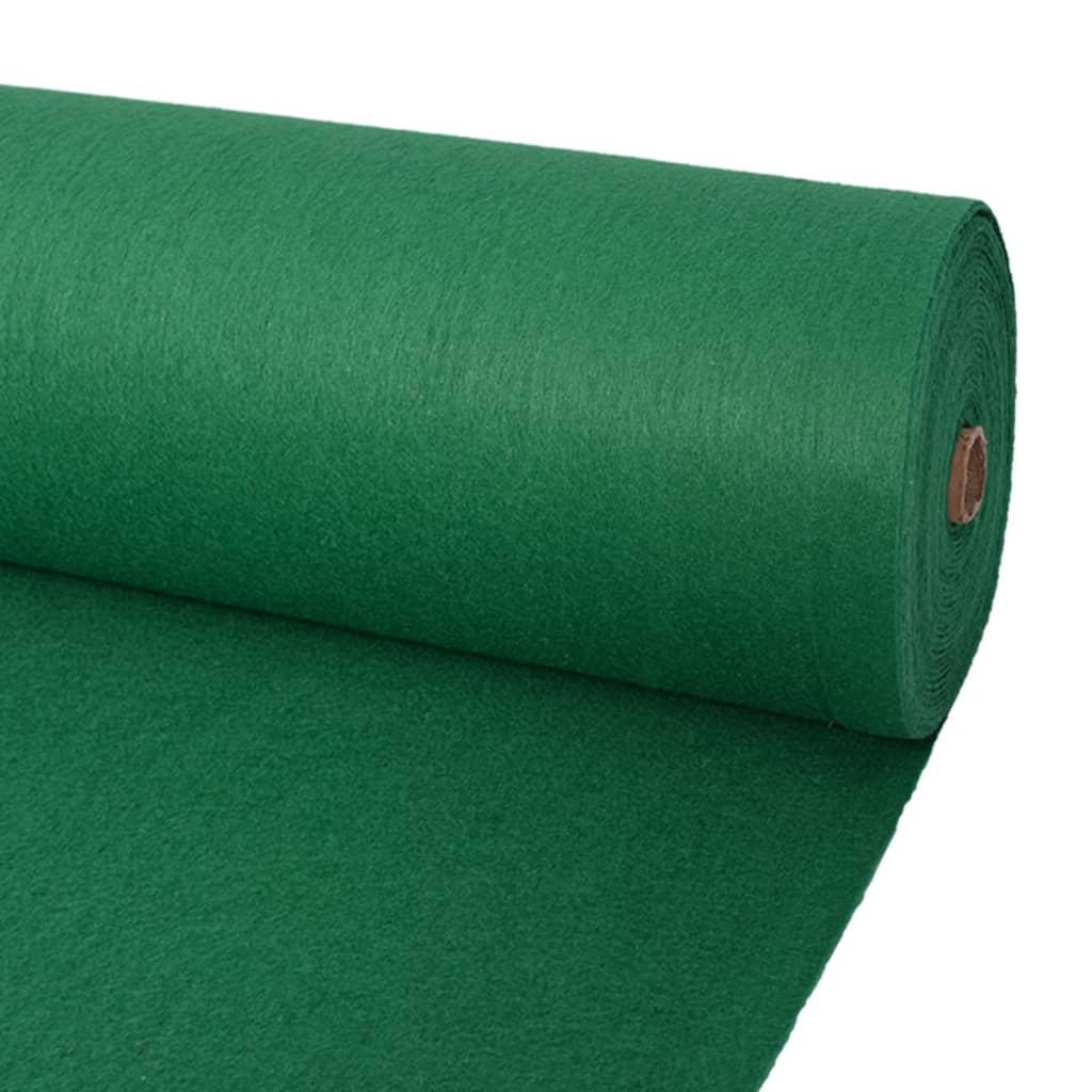 Выставочный ковер Plain 1.6x12 м зеленый
