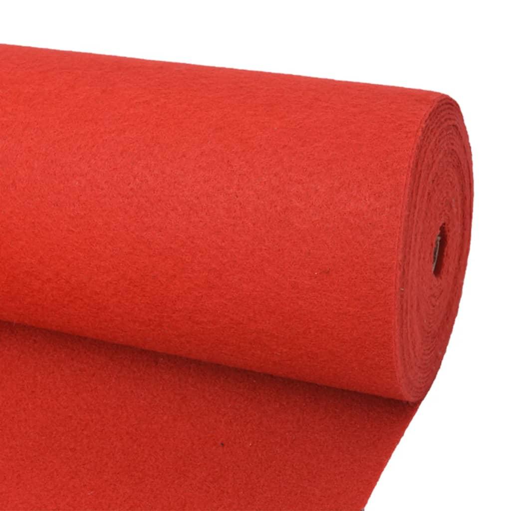 Выставочный ковер Plain 1.6x12 м красный